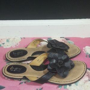 Boc born of concept black flower sandels size 8